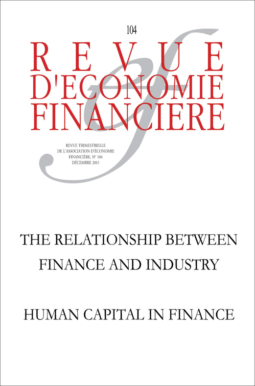 The Relationship between Finance and Industry: A Historical Perspective - Human Capital in Finance