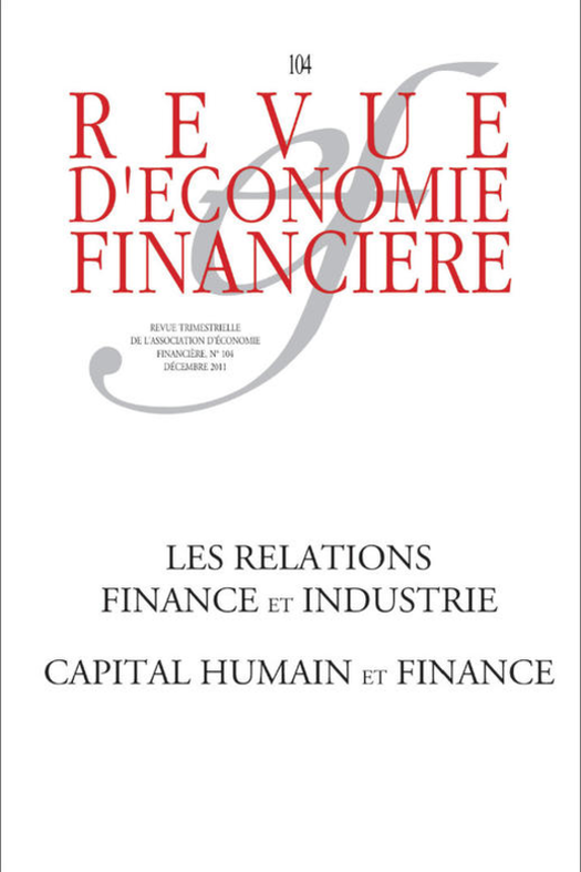 Les relations finance et industrie - Capital humain et finance